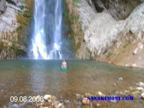 kupanje na vodopadu blihe
